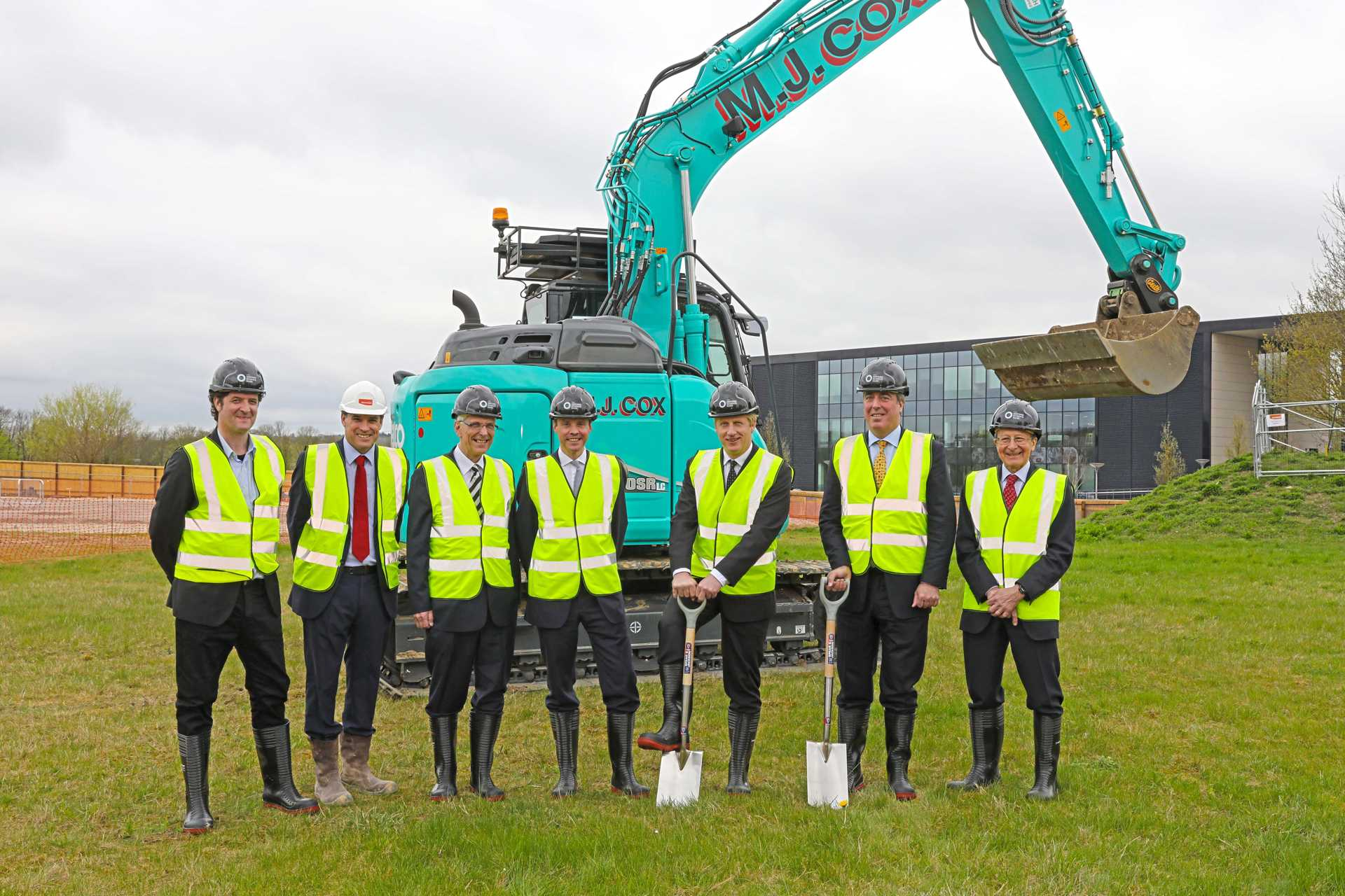 Minister breaks ground and unveils name for £13 million office & laboratory building