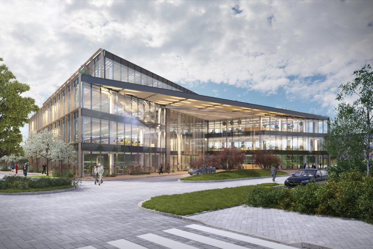 The Oxford Science Park submits new speculative office building designs to accommodate nearly 500 people