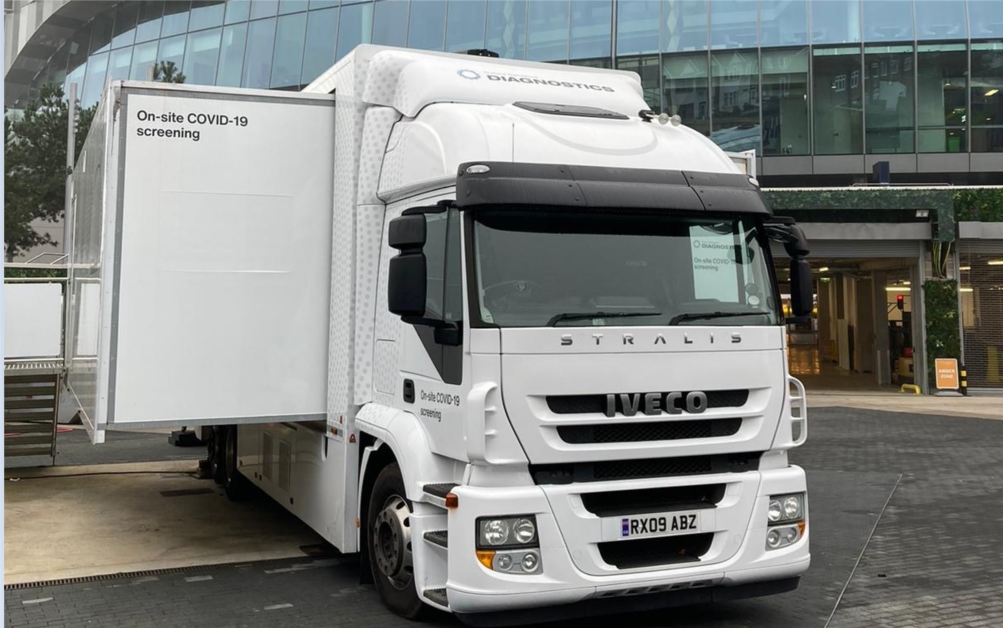 Mobile laboratories use LamPORE COVID-19 test, UK Government LamPORE evaluation report shows high accuracy
